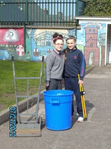 Our litter pickers go about their work