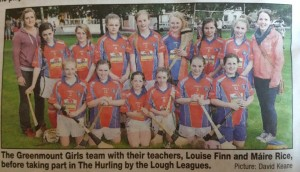 Hurling by the Lough girls 2014